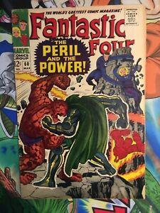 Fantastic Four #60 Lee / Kirby Nice silver age FF!! VG+