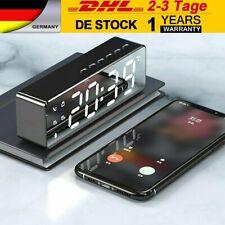 LED Wecker Digital Alarmwecker Funk Uhr Kalender Schlummerfunktion USB MP3 DE