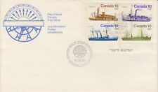 CANADA #700-703 10¢ INLAND VESSELS LL PLATE BLOCK FIRST DAY COVER