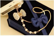 Fashion Pearl Chain Dust Plug for mobile phones accessories
