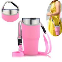 Pink Travel Cup Sleeve Bag for 30Oz Rambler Tumbler Rtic YETI Ozark Holder