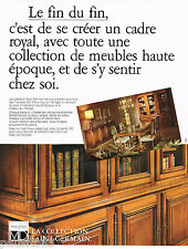 PUBLICITE ADVERTISING 065  1980  MD meubles bibliothéque COLLECTION ST-GERMAIN