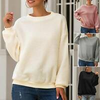 Women Fleece Teddy Bear Pullover Sweatshirt Jumper Casual Autumn Winter Warm Top