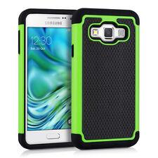 kwmobile Hybrid Schutz Hülle für Samsung Galaxy A3 (2015) Grün Schwarz Case Tpu