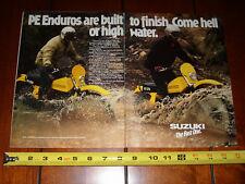 1978 SUZUKI PE250 PE 175 - ORIGINAL 2 PAGE AD