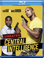 Central Intelligence (Blu-ray, 2016, Unrated Edition) Dwayne Johnson, Kevin Hart