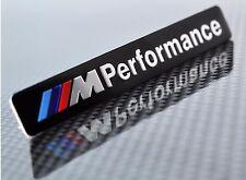 M PERFORMANCE ALUMINUM EMBLEM BADGE STICKER DECAL BMW 1 2 3 4 5 SERIES X3 X5 BK