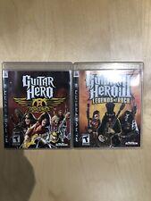 Guitar Hero Lot for PS3 (Guitar Hero 3: Legends of Rock, Guitar Hero: Aerosmith)