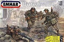 Emhar 1/32nd Scale WWI British Plastic Soldiers Set 3501 12 Figures Boxed!