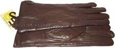 Woman's Smart Leather Winter Gloves worm Leather Gloves Guantes De piel BNWT