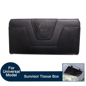 Car Sun Visor Tissue Box CD Card Case Storage Holder Clip Cover Bag Glasses Hold