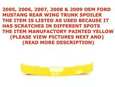 2005-2009 Ford Mustang rear wing trunk spoiler YELLOW 4R336341602ABW