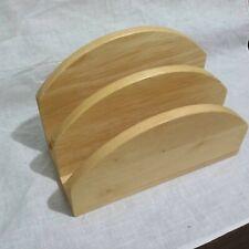 Vtg Wood Maple Napkin Mail Letter Holder 3 Tier 5 H