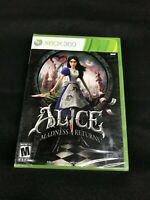 Alice Madness Returns Xbox 360 -  Factory Sealed!!