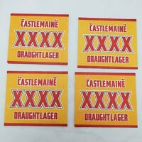 4 - Castlemaine Draught Lager Beer Coasters