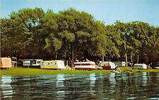 Ohio 2 Postcards CHIPPEWA LAKE Medina Co LOLLIPOP Trailer City Camping Campers