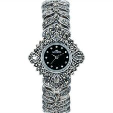 Thail Silver 925 Sterling Silver Watches for Women Elegant Quartz Wristwatches