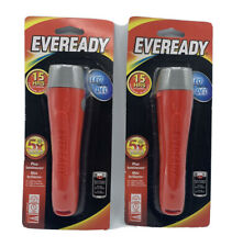 2 Eveready LED Flashlight's All Purpose (Batteries Included) RED 5X's Brighter