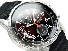 SEIKO Cronografo Militare SNN079P2 Orologio Sportivo Bracciale Nylon