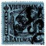 (I.B) Australia - Victoria Railways : Parcel Stamp 3d