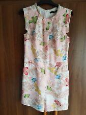Oasis Pink Botanical Short Jumpsuit. Size 10.