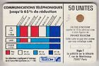 VARIETE TELECARTE CORDON BLANC .. 50U Ko58 SC4OB V° P. NOIR SUR T PE.9361 C.?€