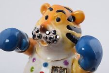 Tigre Trinket box by Keren Kopal Austrian Crystal Jewelry box Faberge
