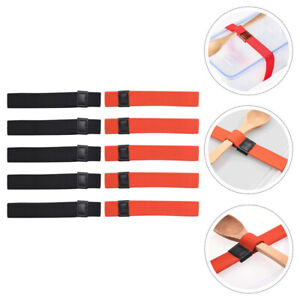 10pcs Double Lunch Box Fixed Strap Polyester Elastic Band for Bento Box
