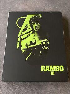 RAMBO III BLURAY + DVD STEELBOOK ZAVVI UK STALLONE VF