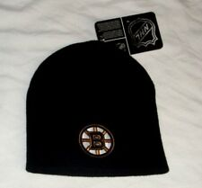 NHL Boston Bruins Winter Knit Cap Hat Beanie Black Color Cuffless (B) FREESHIP