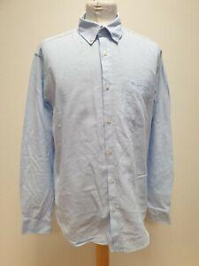 MENS BEN SHERMAN LIGHT BLUE LONG  SLEEVE BUTTON COLLAR CASUAL SHIRT UK M EU 50