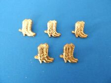 WESTERN BOOT LEATHER EMBELLISHMENTS-GOLD COLOR-10 PIECES