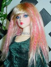 "DOLL Wig, Monique Gold ""J-Rock"" Size 7/8 in Blonde w Pink"