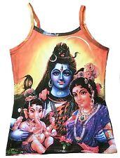 Lord SHIVA GANESH PARVATI Hindu Götter Family Karma Goa Party DJ TOP SHIRT S/M