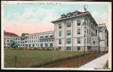 BUFFALO NY Homeopathic Hospital Vintage 1924 Postcard