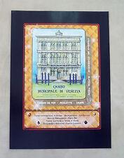 E900- Advertising Pubblicità -1986- CASINO' MUNICIPALE DI VENEZIA
