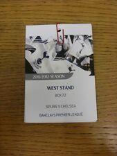 22/12/2011 Ticket: Tottenham Hotspur v Chelsea [West Stand Executive Box Pass] .