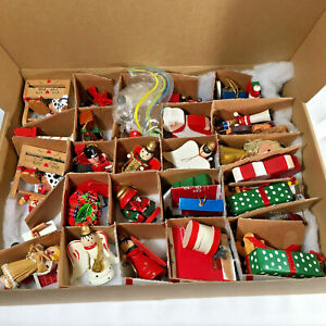 Lot Of Over 30 Mostly Wood Vintage Christmas Ornaments