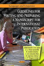 Guidelines for Writing & Preparing a Manuscript for International Publication (L