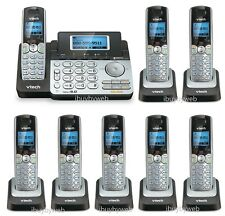 Vtech Ds6151 Dect 6.0 2 Line Cordless Phone w/Answering Machine + 7 Ds6101