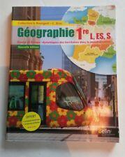 Livre géographie première L, ES, S