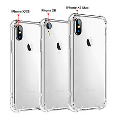 For iPhone XS Max XR X Clear Transparent Shockproof Protective Bumper Case Cover