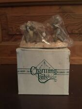Silvestri Charming Tails Dean Griff The Snowball Fight Figurine with Box
