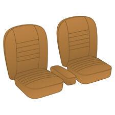 MGA Coupe Seat Cover set Vinyl Tan / Tan piping Pair 1955-1962 NEW 246-240 Moss