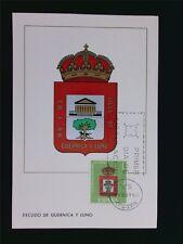 SPAIN MK 1966 ESCUDO GUERNICA WAPPEN BLAZON MAXIMUMKARTE MAXIMUM CARD MC c5584