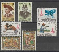 SPAIN - SPANISH ANDORRA - COMPLETE COLLECTION MNH FROM 1980 TO 1989 -10 PICTURES