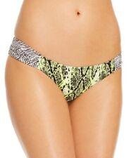 Volcom Bikini Bottom Sz XS Yellow Flash Multi Color Animal Print Swim 02811501