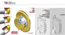 DiSec Defender Bocchetta Rok Sferik BD16-25D1P Antitrapano, Antiscasso 2 COLORI
