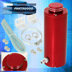 """8"""" Jdm Cylinder Red Coolant Oil Catch Tank Tracking Performance Reservoir Tank"""