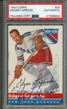 1954/55 Topps #56 Edgar Laprade PSA/DNA Certified Authentic Signed *8909